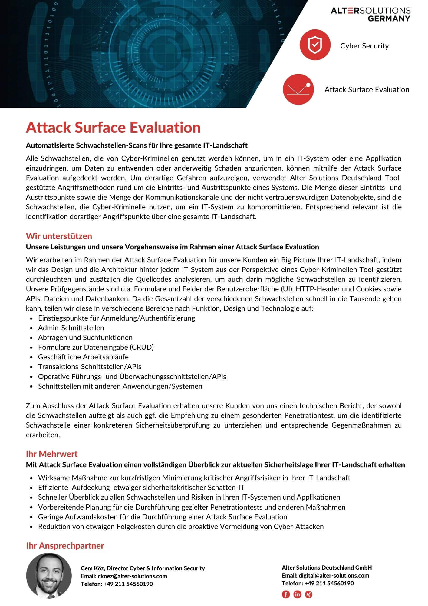 Attack Surface Evaluation Flyer