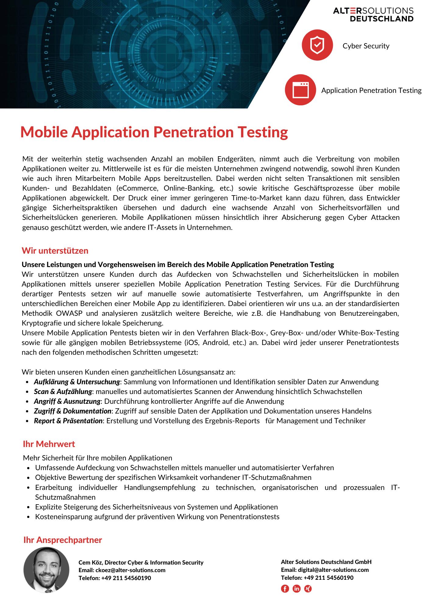 Mobile Application Penetration Testing Flyer