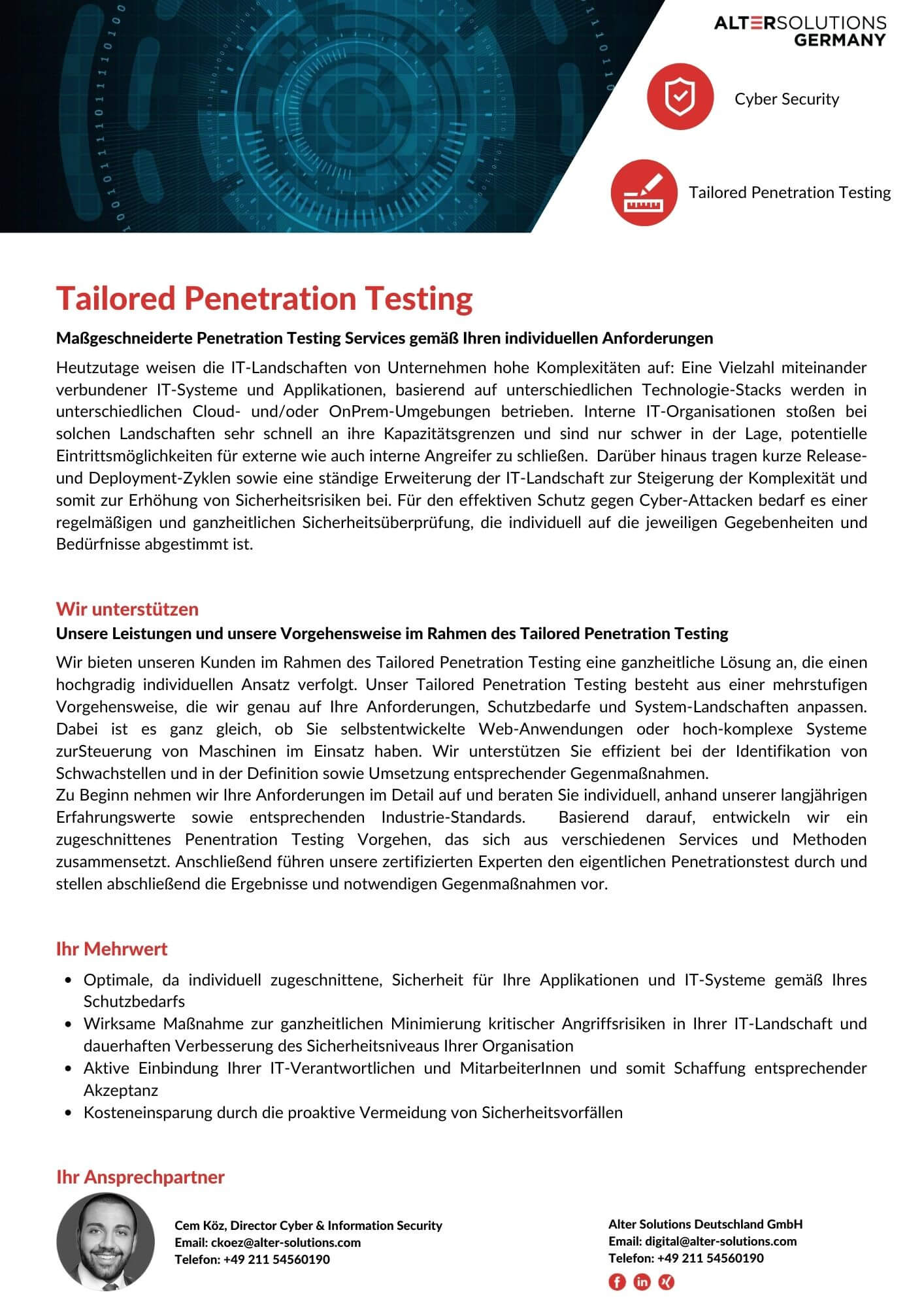 Tailored Penetration Testing
